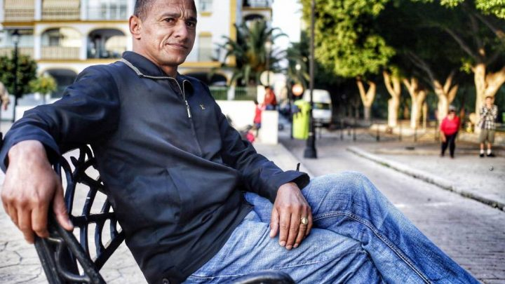 Con Darío Silva, hace más de 12 años en otra pizzería